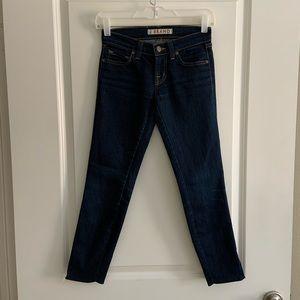 J Brand The Deal Size 23 Skinny Dark Zipper Jeans